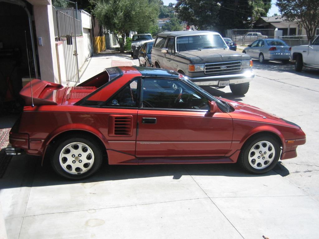 1988 red supercharged toyota mr2 t top manual